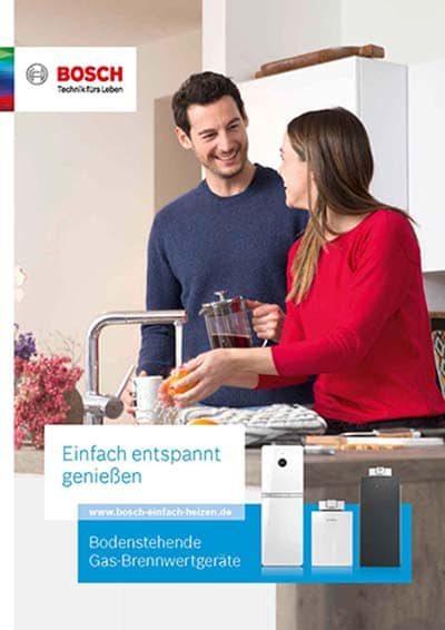 Bosch Bodenstehende Gas-Brennwertgeräte PDF Download