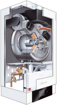 Gasheizung Vitoladens 300W Schnittfoto