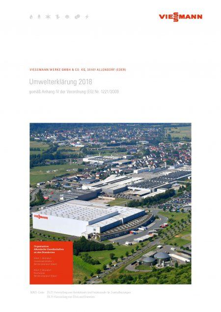 Viessmann Umwelterklaerung 2018 PDF Download